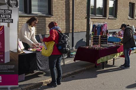 Anna-Karin på Pilgatans kulturmarknad