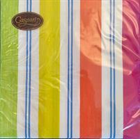 Serviett middag Stripes bright 3-lag 20 stk