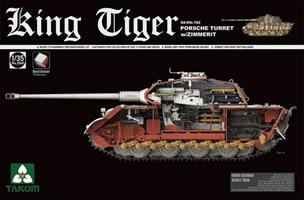 King Tiger Sd.Kfz.182 PORSCHE TURRET w/ZIMMERIT