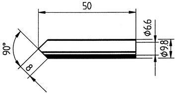 Tip Ersadur 8mm Angled face