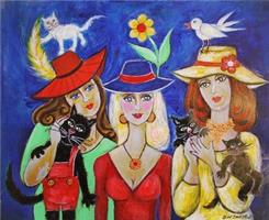 Brit H Smestad-Crazy cats and girls with hats