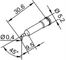 Tip Ersadur 0,4mm Pencil point