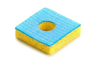 Viscose sponge, blue, 55x55mm