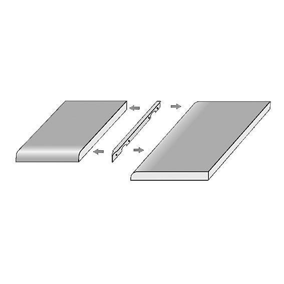 Skarvprofil 17x625x30 Radie10, aluminium