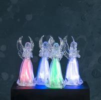Ängel frostad, LED, skiftar färg