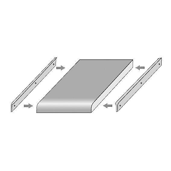 Avslutningsprofil 6x630x30, Rak/Vinkel 90grader, aluminium