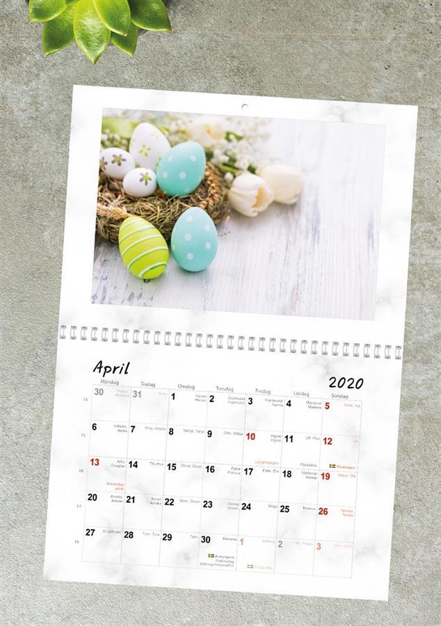 Fotokalender A3 uppslag, inlaga