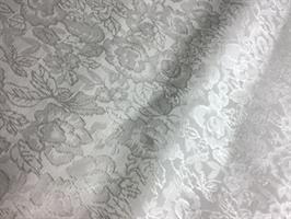 Stoff, Bomulls damask, hvit