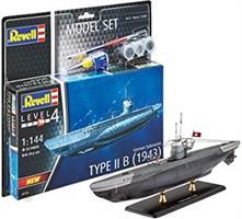 Model Set German Submarine Type IIB (1943)