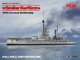 WWI German Battleship Großer Kurfürst (Full Hull O
