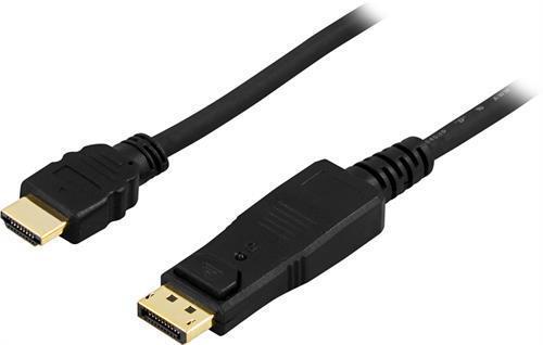 KABEL, DISPLAYPORT/HDMI, 2M