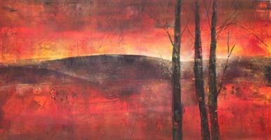 Svein Erik Larsen-Sommernatt med trær