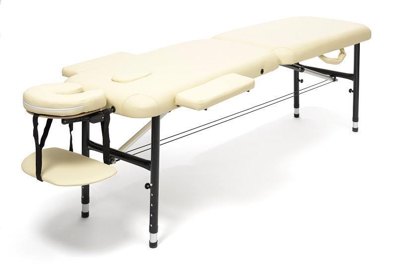 Massagebänk aluminium beige, 50