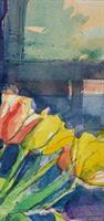 Stilleben, tulipandetalj