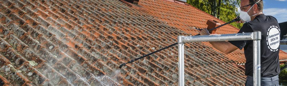 Nu finns möjligheten att få tak, fasader och markytor fria från påväxt.
