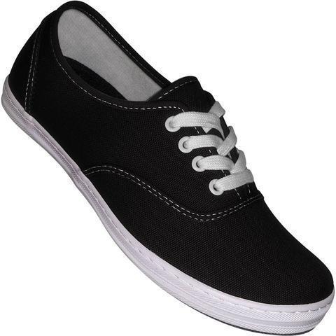 New Black Canvas Dance Sneaker