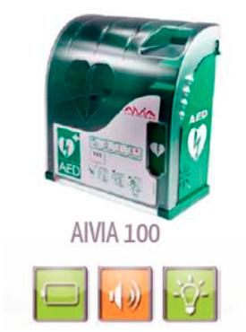 Skap til hjertestartar Aivia100