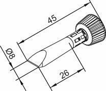 ERSADUR chisel-shaped 8 mm