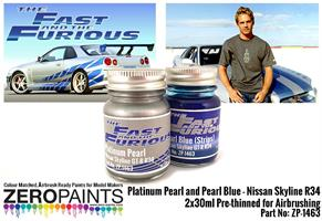 Fast and Furious Platinum Pearl/Pearl Blue Paints