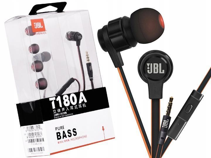 HEADSET, JBL T180A IN-EAR, SVART