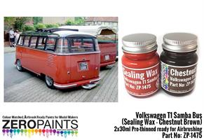 Volkswagen T1 Samba Bus (Sealing Wax - Chestnut Br