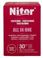 Nitor Tekstilfarge All-in-one, Fuksia