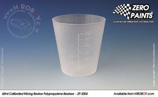 60ml Calibrated Measuring/Mixing Beakers