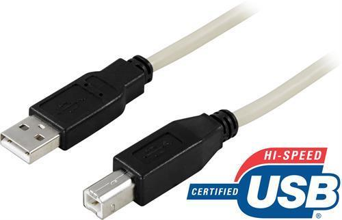 KABEL, USB A-B M/M, 0,5 M