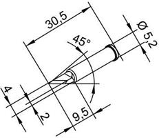 Tip Ersadur 2,0mm PLCC blade