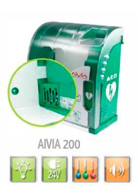 Skap til hjertestartar Aivia200