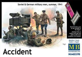 Accident Soviet & German military men, summer, 194
