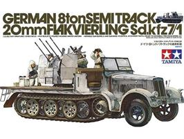 German 8ton Semitrack 20mm Flakvierling Sd.Kfz. 7/