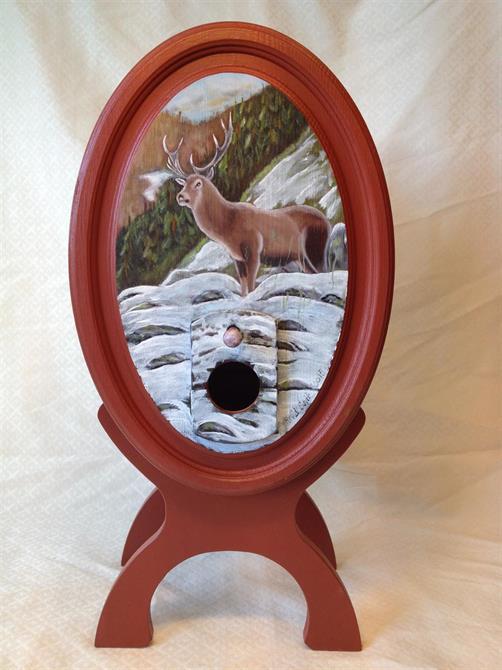 Vintønne med motiv av hjort