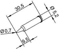 Tip Ersadur 0,7mm pencil point