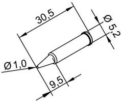 Tip Ersadur 1,0mm pencil point