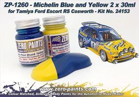 Michelin Pilot Blue & Yellow Paint Set