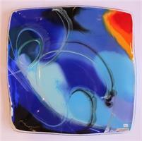 Åshild Karevoll - Abstrakt glasskunst I blå