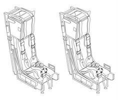 Ejection seat Martin Baker Mk.10 (2 pcs) 1/32