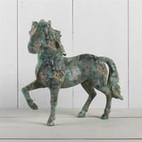 Häst, gjuten i metall