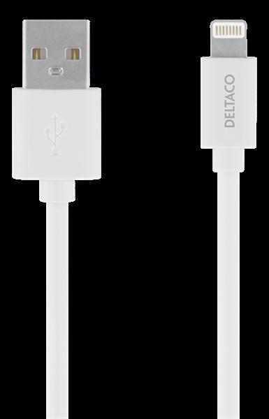 KABEL, USB A-LIGHTNING 1M, DELTACO GNG