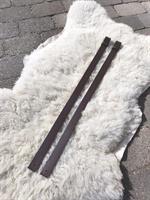 Liza läderremmar till klädstång Brun