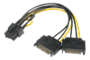 ADAPTER, STRÖM 6+2-PIN, SATA, PCIe