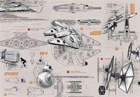 Komar fototapet Star Wars Blueprints