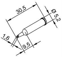 Tip Ersadur 1,6mm concave port