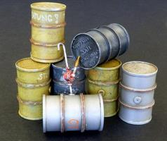 German fuel barrels