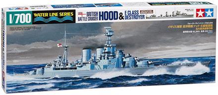 BC Hood & E Class Destroyer -