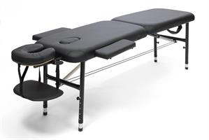 Massagebänk aluminium svart, 50cm
