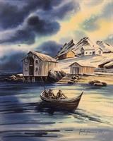 Jarle Hammer-Hjem i nordlys