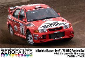Mitsubishi Lancer Evo VI WRC Passion Red Paint 60m
