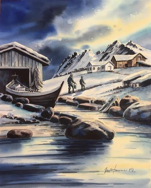 Jarle Hammer-Hjem fra garnsetting